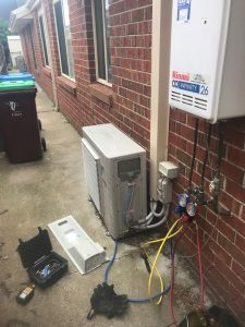 selected service and repairs for outside unit